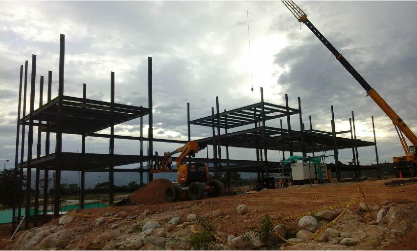 estructura metalica para edificio