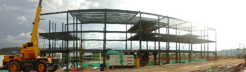 edificio en estructura metálica